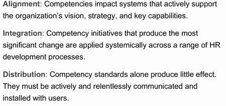 Competencies evaluation